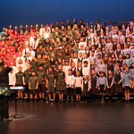 students singing at Mid Bays Schools' Music & Arts Festival